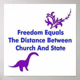 Separación de iglesia y estada posters