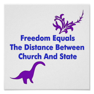 Separación de iglesia y estada póster