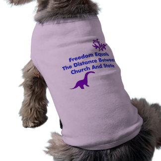 Separación de iglesia y estada camisetas de mascota