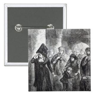 Separación de la reina Elizabeth Wydville y ella Pin Cuadrado