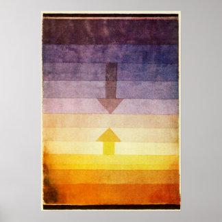 Separación de Paul Klee en el poster de la tarde