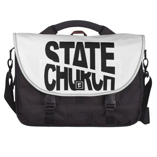 Separación del estado de la iglesia bolsas de portatil