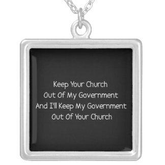 Separación del estado de la iglesia collar plateado