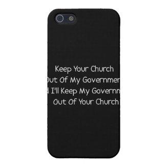 Separación del estado de la iglesia iPhone 5 fundas