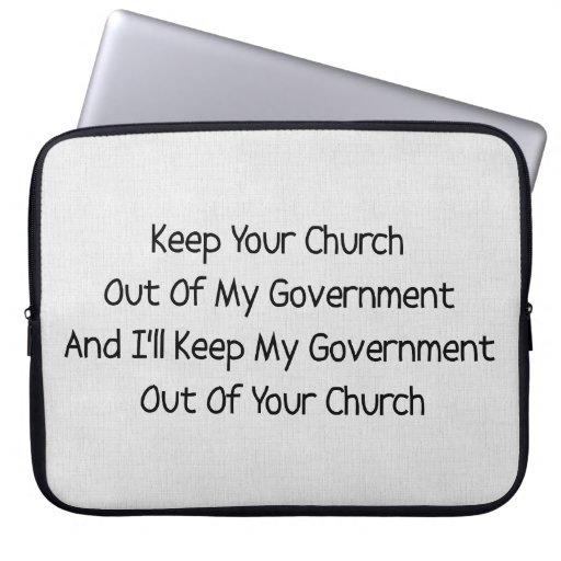 Separación del estado de la iglesia funda portátil