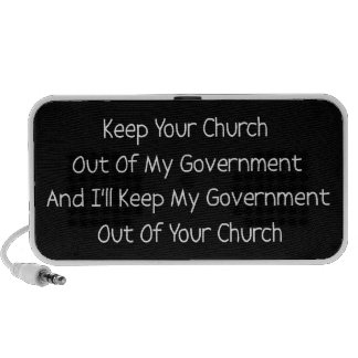 Separación del estado de la iglesia iPhone altavoz