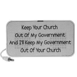 Separación del estado de la iglesia mini altavoces