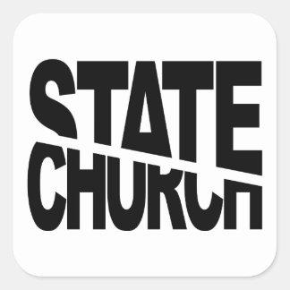 Separación del estado de la iglesia pegatina cuadrada