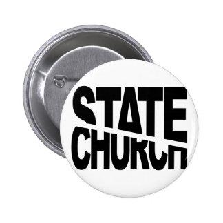 Separación del estado de la iglesia pin redondo de 2 pulgadas