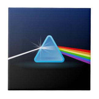 Separación ligera del arco iris con el triángulo azulejo