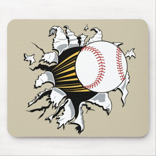 Separador del béisbol alfombrilla de raton