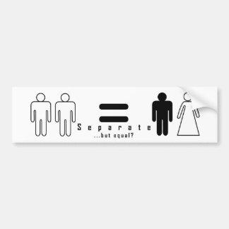 separate...but-equal? bumper sticker