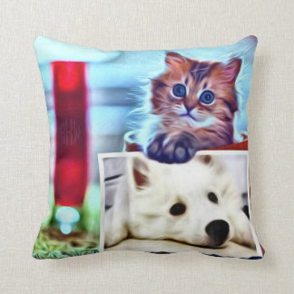 Separate Differences Throw Pillow