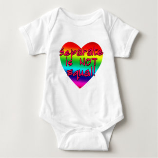 Separate is Not Equal Pro Gay Marriage Products Baby Bodysuit
