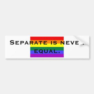 Separate nunca es igual etiqueta de parachoque