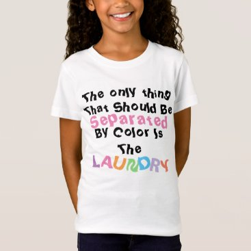 USA Themed Separated Colors T-Shirt