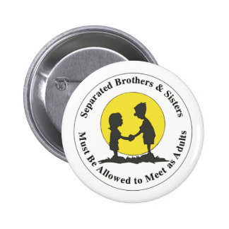 Separated Siblings Pinback Button