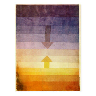 Separation in the Evening by Paul Klee Postcard