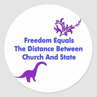 Separation of Church and State Classic Round Sticker