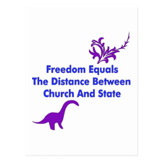 Separation of Church and State Postcard