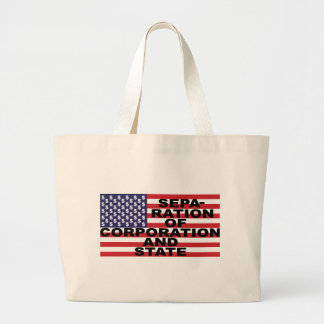 Separation of Corporation and State Large Tote Bag