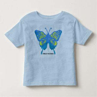Separe camiseta 5/6X de los niños de la mariposa