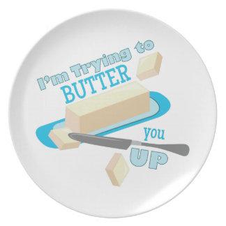 Separe demasiado fino plato de comida