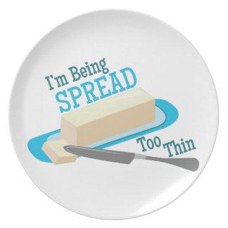 Separe demasiado fino plato para fiesta