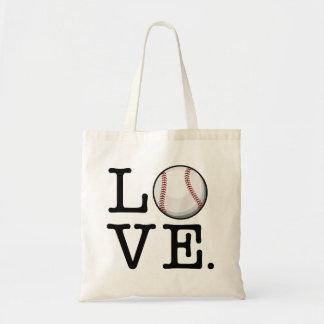 Separe el aficionado al béisbol del amor el | del bolsa tela barata