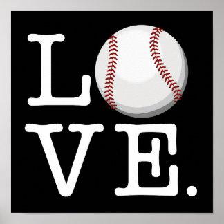 Separe el aficionado al béisbol del amor el | del póster