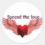 Separe el amor (2) el _ pegatinas redondas
