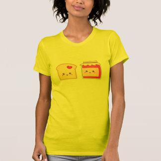 Separe el amor con la tostada y el atasco lindos camisetas
