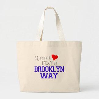 Separe el amor la manera de Brooklyn Bolsa Tela Grande