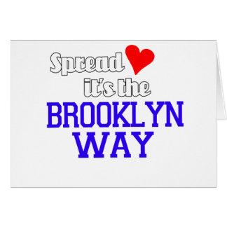 Separe el amor la manera de Brooklyn Tarjeta De Felicitación