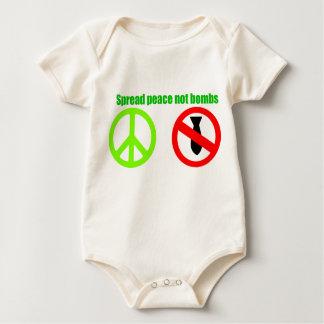 separe la enredadera infantil del onsie de la paz mamelucos