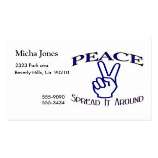 Separe la paz alrededor de signo de la paz tarjetas de visita