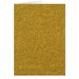 Separe los guijarros del amarillo del polvo de oro tarjetón