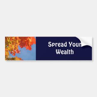 Separe su otoño de las pegatinas para el pegatina para auto