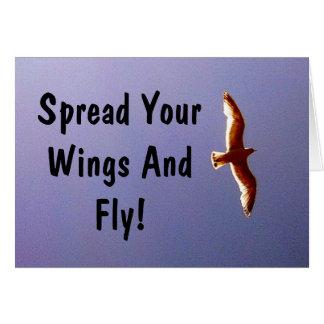 Separe su tarjeta de felicitación de las alas