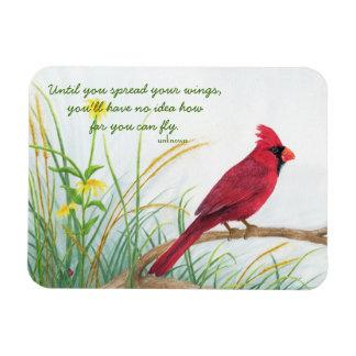 Separe sus alas - imán cardinal