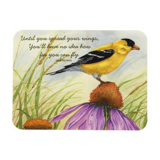 Separe sus alas - imán del Goldfinch