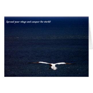¡Separe sus alas y conquiste el mundo! Tarjeta De Felicitación