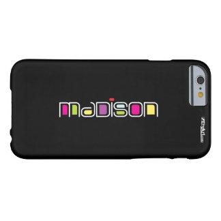 ¡Sépase! Glo-colores de MADISON Contempo Funda Para iPhone 6 Barely There
