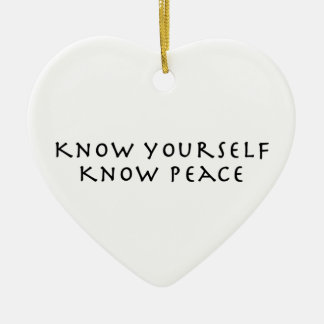 Sépase que sabe paz adorno navideño de cerámica en forma de corazón