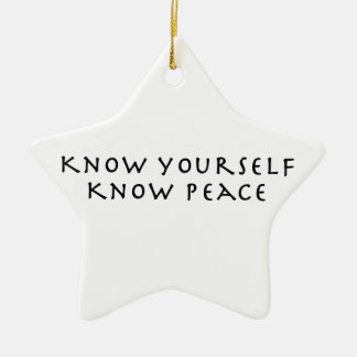 Sépase que sabe paz adorno navideño de cerámica en forma de estrella