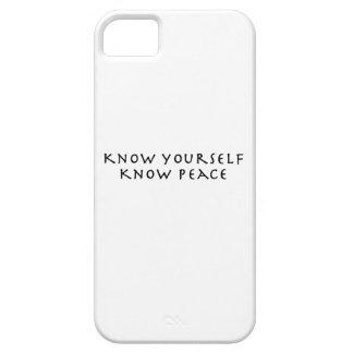 Sépase que sabe paz iPhone 5 Case-Mate fundas