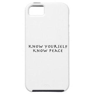 Sépase que sabe paz iPhone 5 cárcasa