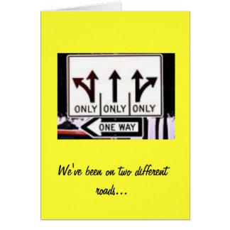 Seperate Roads Card