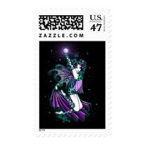 fairy, faerie, fae, faery, fairies, pixie, celestial, stars, gothic, myka, jelina, rainbow, art, Stamp with custom graphic design