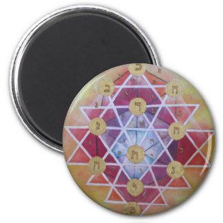 Sephirot 2 Inch Round Magnet